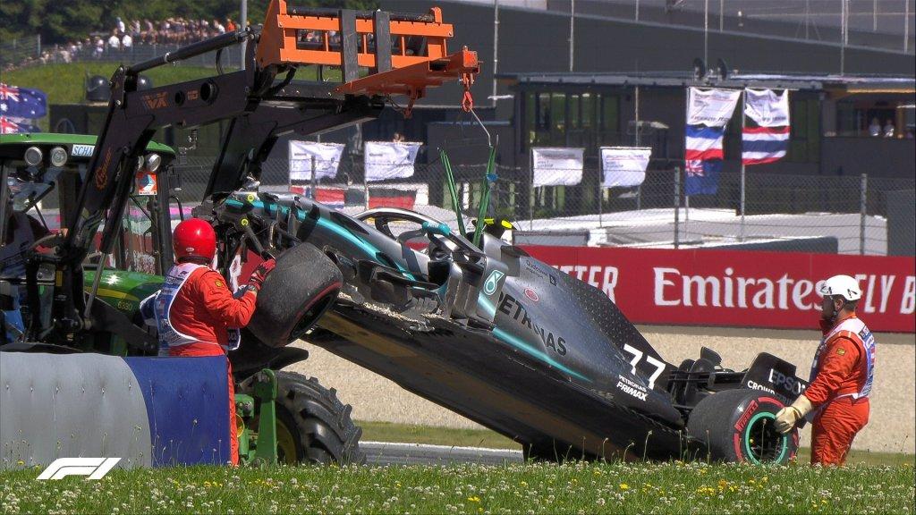 incidenti prove libere gp austria di formula 1
