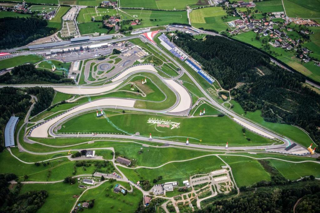 F1 orari TV GP Austria 2019 - Vista aerea del Red Bull Ring
