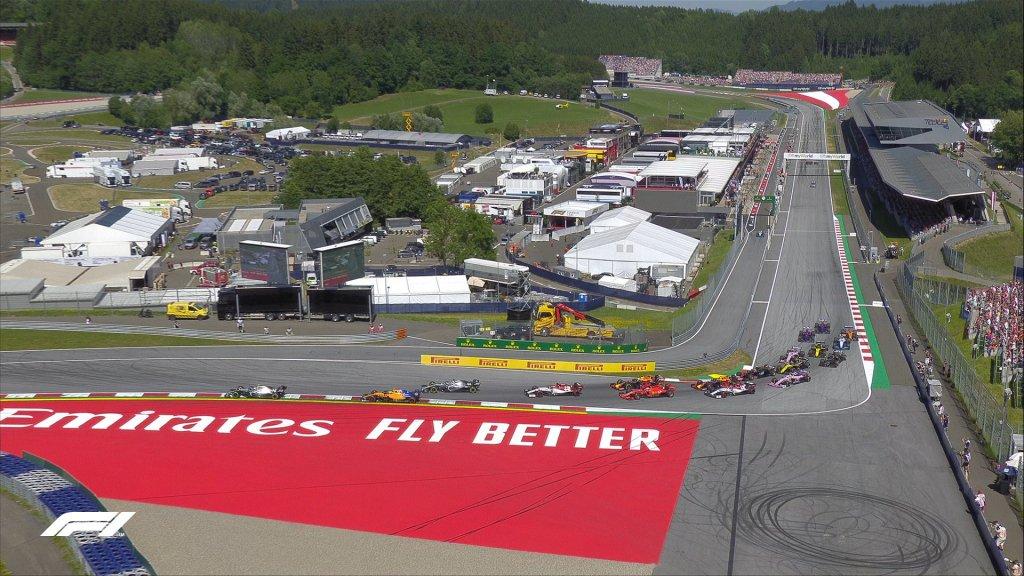 f1 partenza gara gp austria