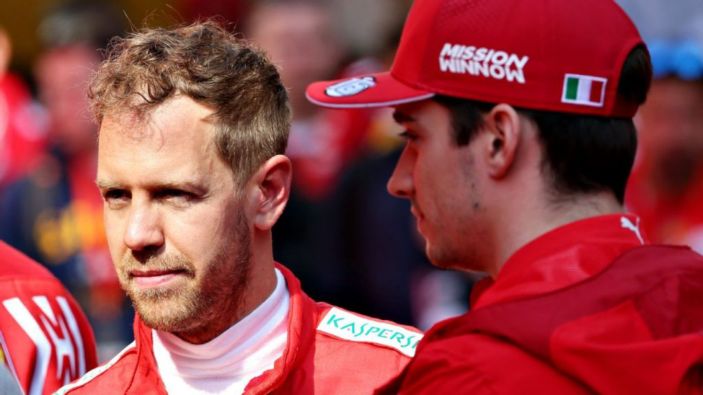 Sebastian Vettel e Charles Leclerc, Ferrari