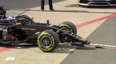 Video incidente grosjean prove libere silverstone