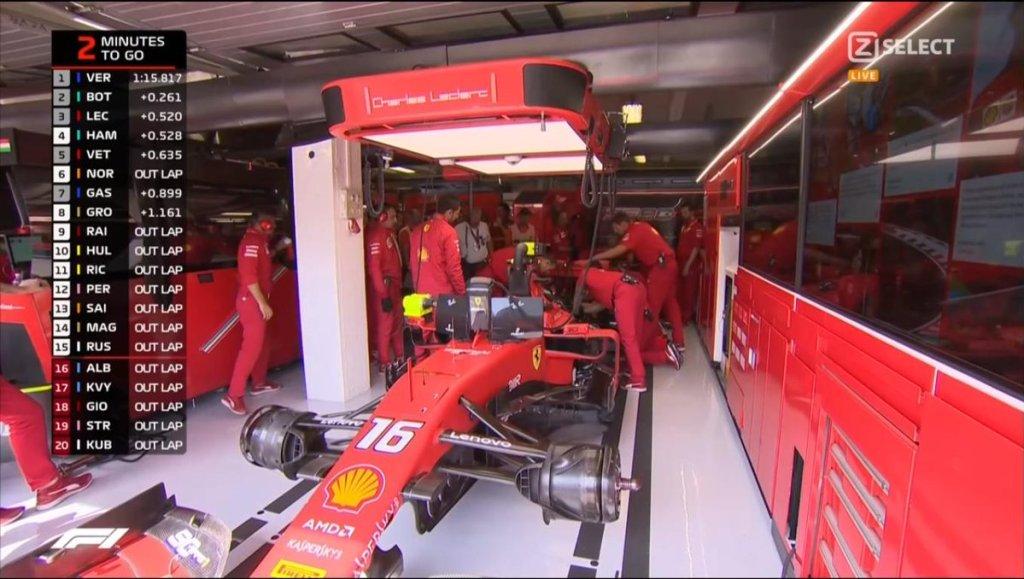 F1 Diretta Qualifiche - GP Ungheria - Lavori Ferrari Leclerc