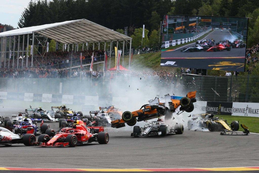 F1 GP Belgio - incidente al via edizione 2018