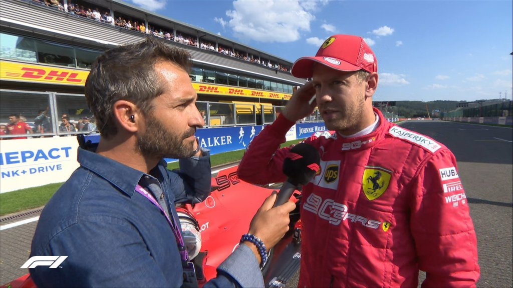 f1 qualifiche vettel gp belgio interviste spa
