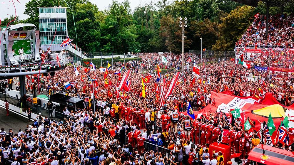 F1 - Diretta Gran Premio d'Italia a Monza - Podio Ferrari