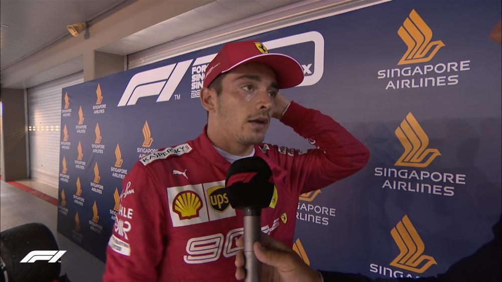 F1 GP Singapore - Charles Leclerc notizie, Ferrari. Il monegasco è deluso per il secondo posto