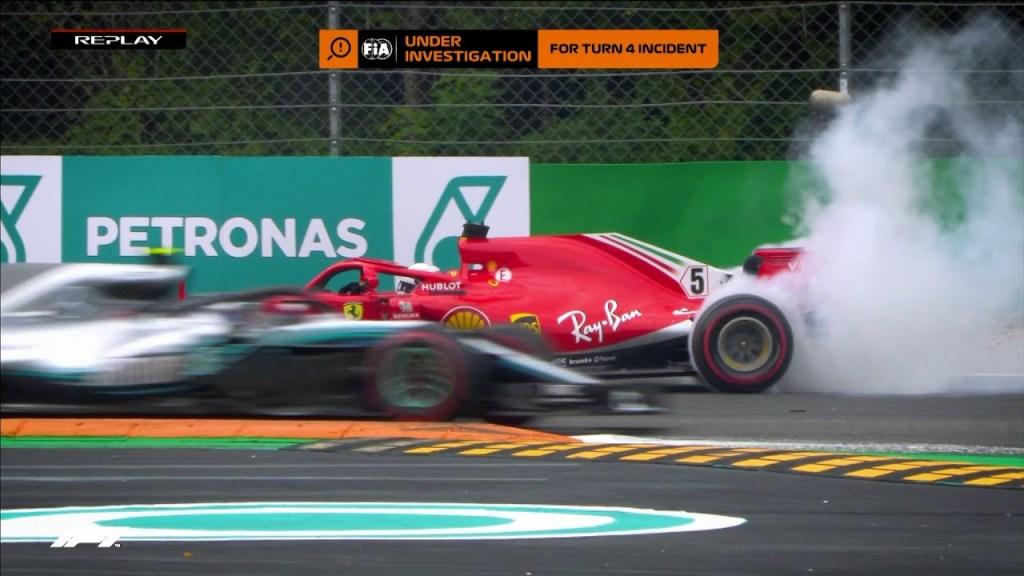 F1 Monza 2019 - Lo scorso anno contatto tra Hamilton e Vettel