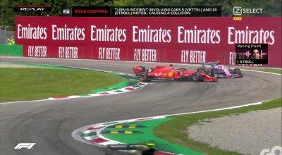 F1 Monza Live - Vettel investigazione
