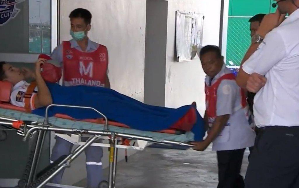 caduta marquez thailandia, portato in ospedale