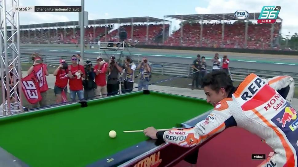 motogp gp thailandia biliardo marquez