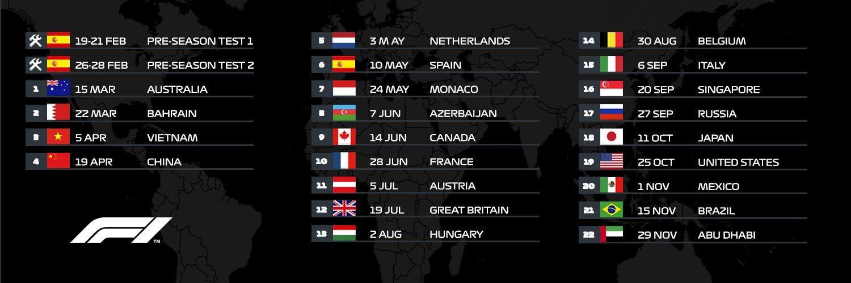 Il Nuovo Calendario F1 2020 Aggiornato Definitivo Date E Orari Tv