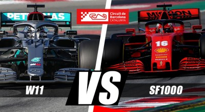 ferrari f1 sf1000 vs mercedes f1 analisi video onboard