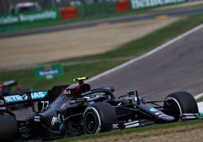 F1 Imola, Bottas problema al fondo causato da un detrito della Ferrari