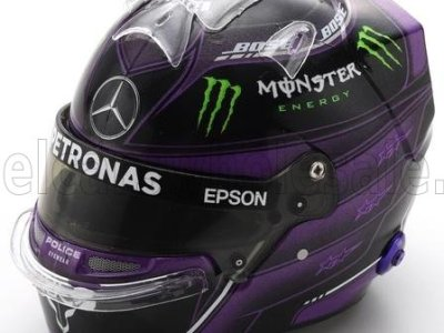 modellino casco hamilton 2020 nero spark