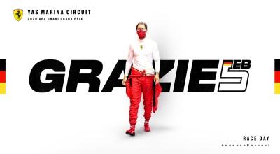 F1 team radio - Vettel canta e saluta la Ferrari ad AbuDhabi