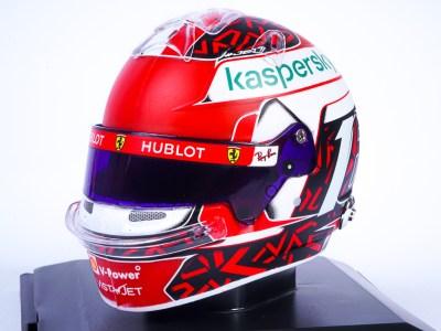 modellino casco charles leclerc f1 ferrari 2020 scala 1:5 helmet spark edition