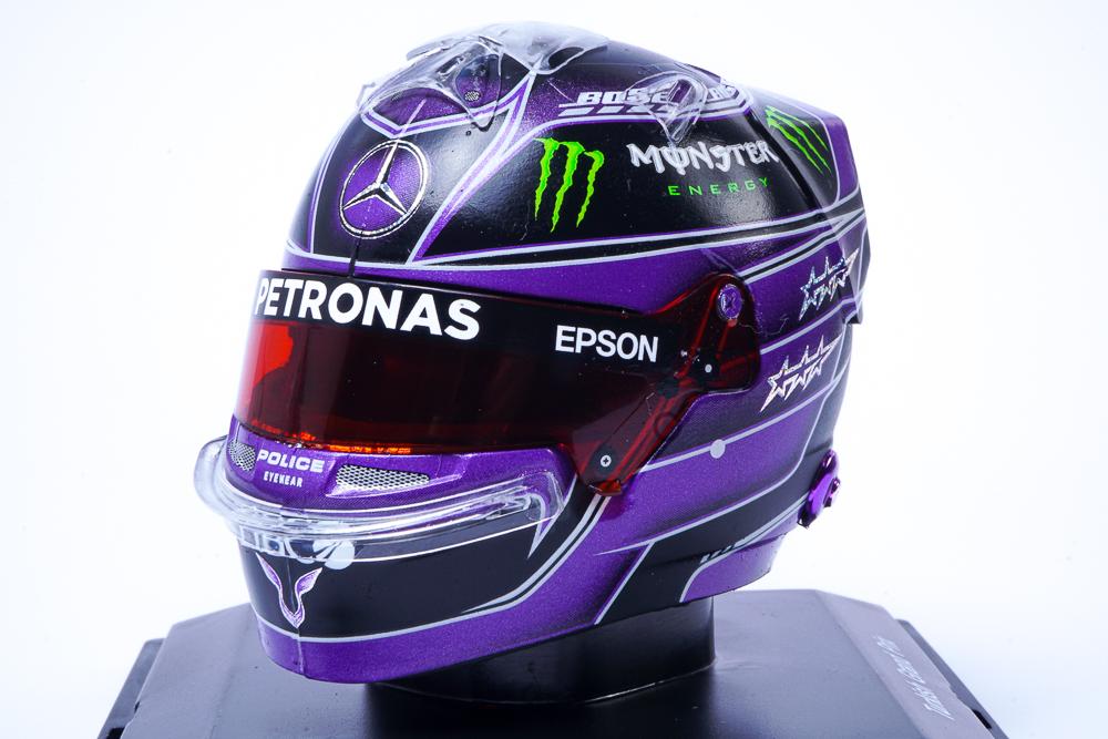 modellino casco lewis hamilton mercedes 2020 gp turchia nero spark 1:5