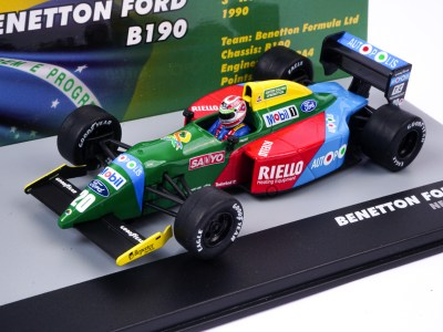 modellino nelson piquet benetton ford scala 1:43