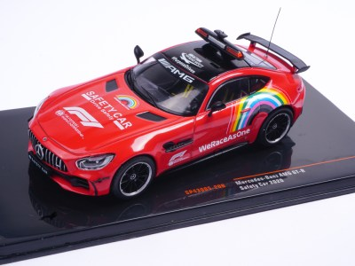 modellino safety car f1 mercedes rossa scala 1:43