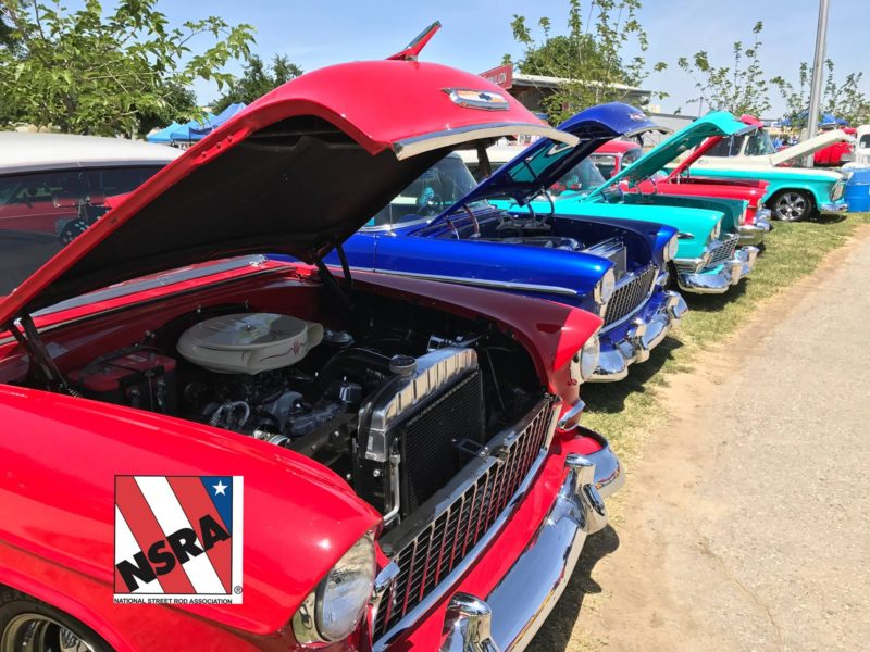 Street Rods on display at NSRA Street Rod Nationals