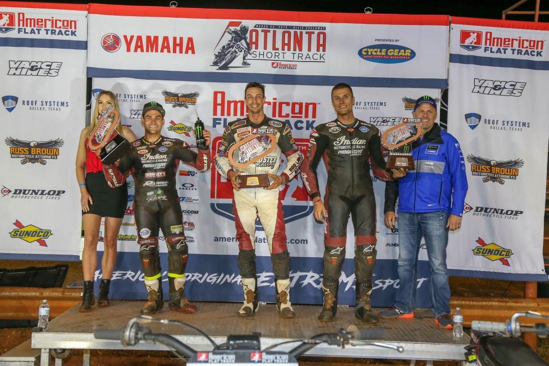 Indian Motorcycle Racing's FTR750 Sweeps Podium at Atlanta Short Track