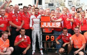 Bianchi and Marussia Celebrate Points in Monaco!