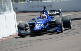 Ed Jones wins race one of the Indy Lights round in St. Pete.