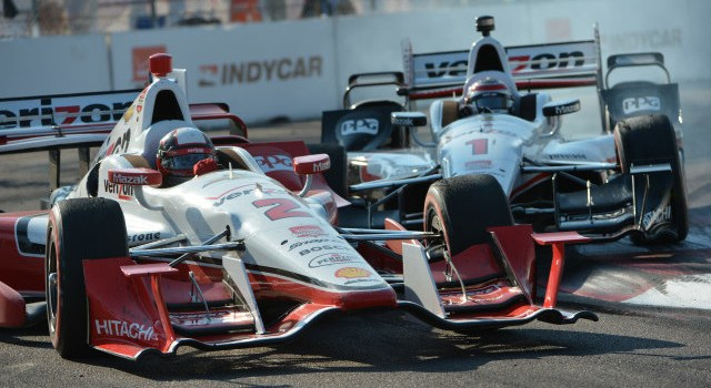 Team Penske teammates Juan Pablo Montoya and Will Power made contact in the closing laps of the Firestone Grand Prix of St. Petersburg.