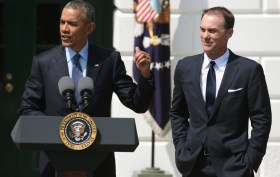 President Barack Obama hosts Kevin Harvick at The White House