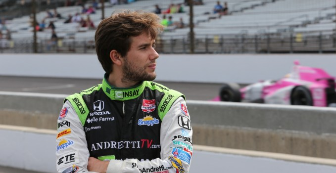 Carlos Munoz at Indy, 2015.