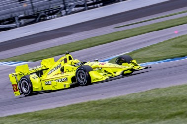 Simon Pagenaud(22) entering turn 13during the Angie's List Grand Prix of Indianapolis at Indianapolis Motor Speedway, Saturday, May. 14, 2016, in Indianapolis, IN. (Tribute Racing/Matthew Bishop)