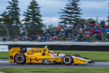 Spencer Pigot(16) Enters turn 8 during the Angie's List Grand Prix of Indianapolis at Indianapolis Motor Speedway, Saturday, May. 14, 2016, in Indianapolis, IN. (Tribute Racing/Matthew Bishop)