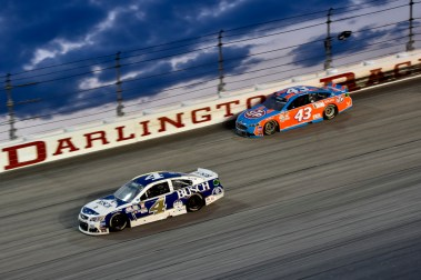 Kevin Harvick (4) and Aric Almirola (43) during the the 2016 Southern 500 in Darlington, Sc, Sunday, September 4, 2016.