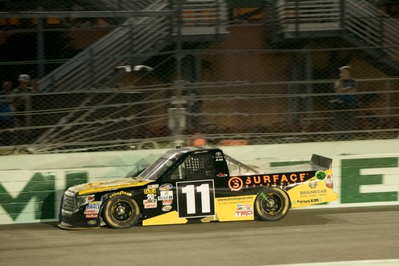 during the Ford Ecoboost 200 at Homestead-Miami Speedway.