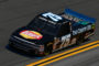 DAYTONA BEACH, FL - FEBRUARY 15:  Parker Kligerman, driver of the #75 Food Country USA/Lopez Wealth Mgmt. Chevrolet, practices for the NASCAR Camping World Truck Series NextEra Energy Resources 250 at Daytona International Speedway on February 15, 2018 in Daytona Beach, Florida.  (Photo by Sarah Crabill/Getty Images)