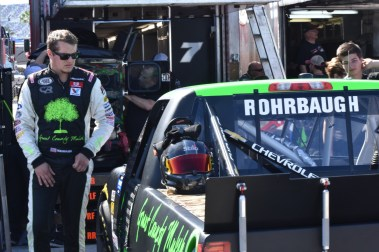 Codie Rohrbaugh preparing to hit the track at Daytona. He would ultimately fail to make the 32-truck field.