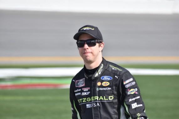 Brad Keselowski before 2nd Round NXS qualifying at Daytona.