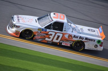 Brennan Poole's No. 30 Bad Boy Mowers Toyota Tundra that's owned by On Point Motorsports.