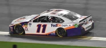 Denny Hamlin scored his 2nd Daytona 500 victory and led Joe Gibbs Racing to a 1-2-3 finish.