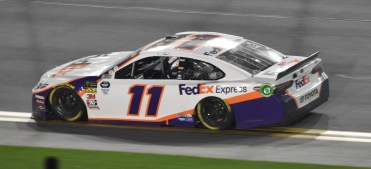 Denny Hamlin scored his 2nd Daytona 500 victory and led Joe Gibbs Racing to a 1-2-3 finish.