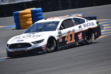 Daniel Suarez during qualifying at Sonoma