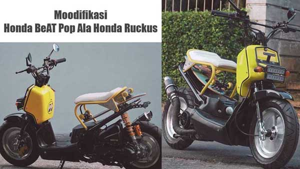 Modifikasi Honda BeAT Pop ala Honda Ruckus