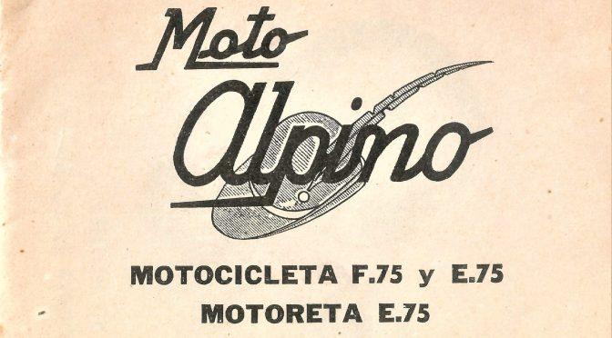 Mantenimiento Alpino 75 Modelos E, F y Scooter