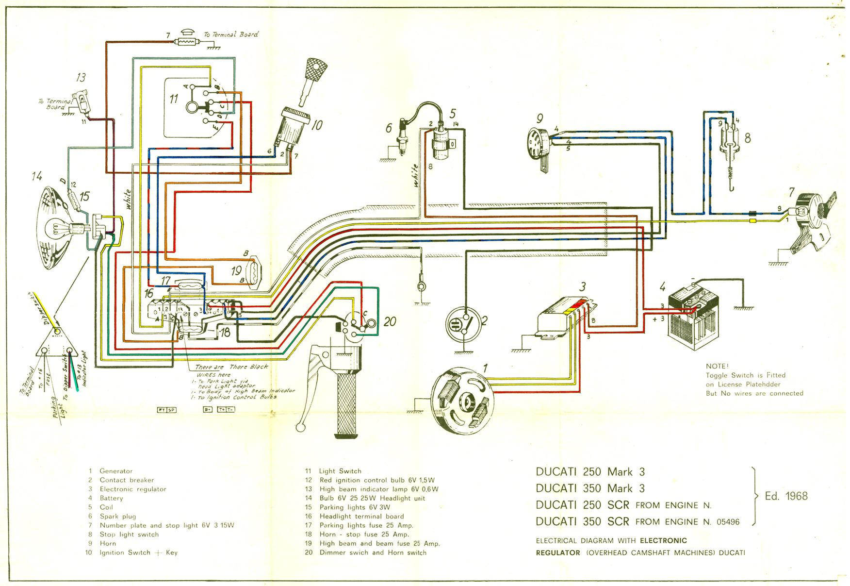 hight resolution of ducati singles technical information by motoscrubs com systems magneto booklet with schematic narrowcase magneto schematic