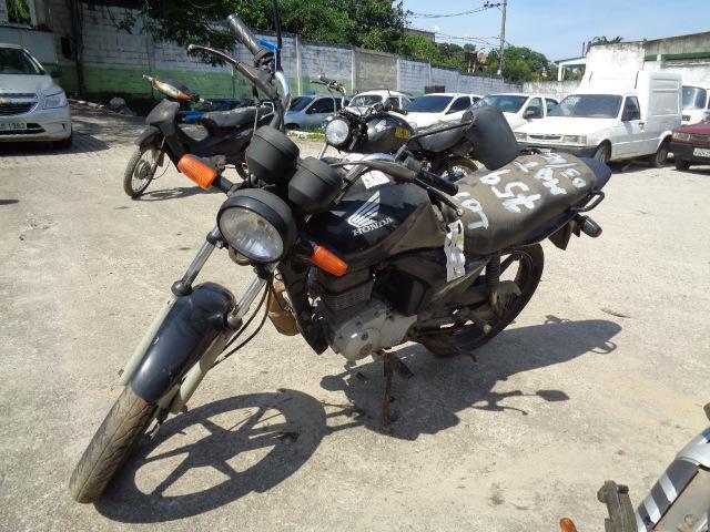 Leilão de veículos tem moto Honda CG 125