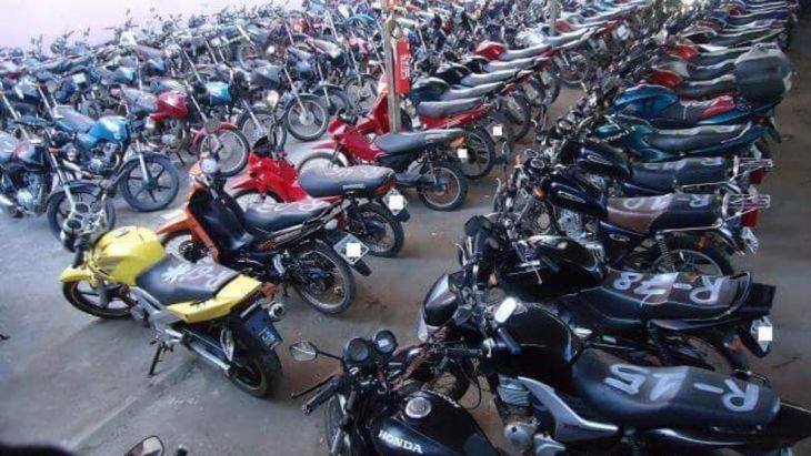 Leilão de motos no Banco Banestes