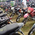 Leilão de motos e sucatas da PRF terá lances R$ 15,00 a R$ 12 mil