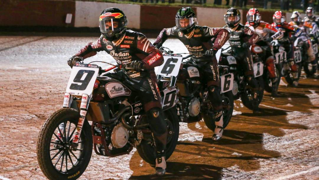 WOODSTOCK, GA - MARCH 25: American Flat Track at Dixie Speedway on March 25, 2017 in Woodstock, Georgia. (Photo by Scott Hunter / NASCAR Productions)