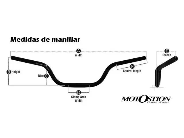 Manillar HYOSUNG AQUILA 650 2004-2006 moto