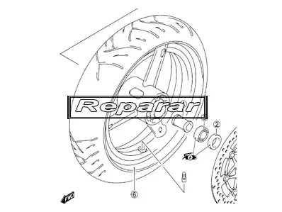 Rueda delantera reparar DERBI SENDA 50 1993-1994 recambio moto